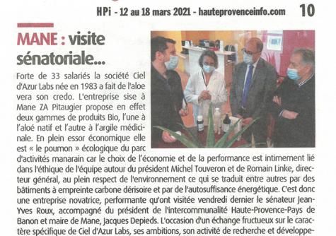 Haute Provence Info - Mars 2021