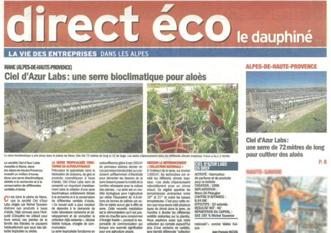 Le Dauphiné Libéré Eco - Mai 2021