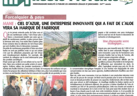 Haute Provence Info - Août 2021